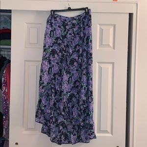 American Eagle Floral Long Wrap XL Skirt